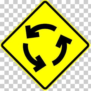 Roundabout Warning Sign Yield Sign Stop Sign Traffic Sign PNG