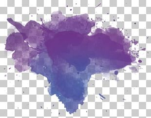 Watercolor Painting Blue Violet Purple Stain PNG