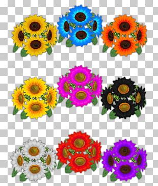 Common Sunflower Floral Design Cut Flowers Sunflower Seed Pattern PNG