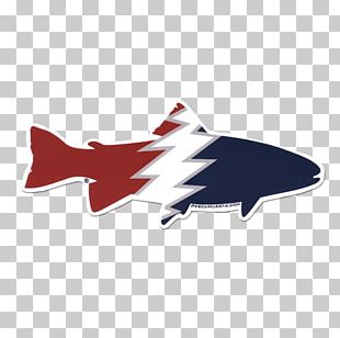 Fly Fishing Sticker On The Water Decal PNG