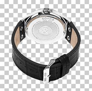 Quartz Clock Strap Watch Chronograph Leather PNG