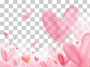 Romance Falling In Love Watercolor Painting Heart PNG