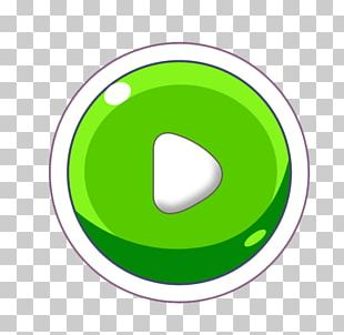 Green Push-button PNG