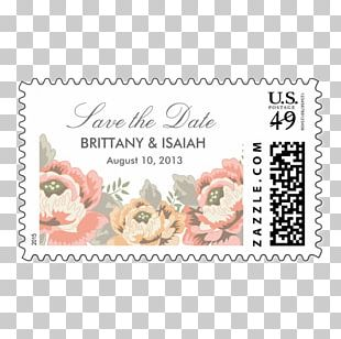 Wedding Invitation Paper Postage Stamps Mail Rubber Stamp PNG