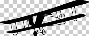 Airplane Aircraft Black And White PNG