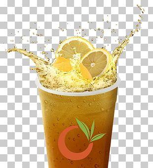 Juice Green Tea Bubble Tea Orange Drink PNG