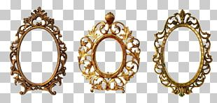 Frames Gold Oval Ornament Decorative Arts PNG