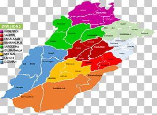 Gujranwala Faisalabad Lahore PMIU-PERSP Districts Of Punjab PNG