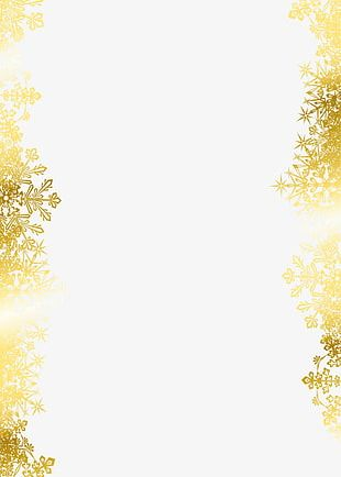 Golden Snowflake PNG