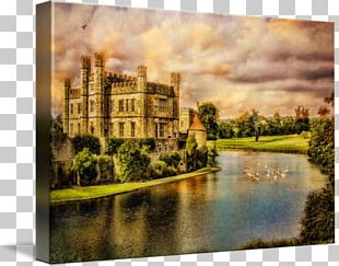 Leeds Castle Painting Real Estate English Country House PNG