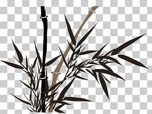 Bamboo Painting Ink Wash Painting Drawing PNG