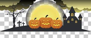 Halloween Banner Pumpkin PNG