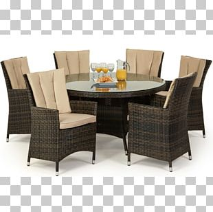 Table Garden Furniture Rattan Chair PNG