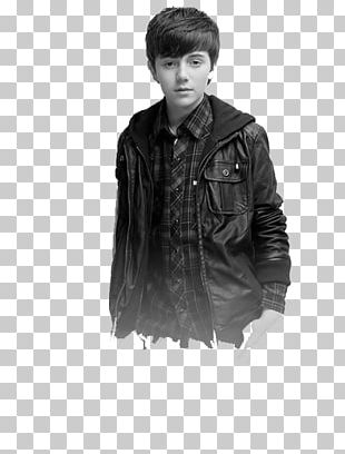 Greyson Chance Leather Jacket Coat PNG
