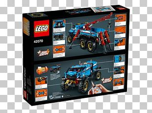 LEGO 42070 Technic 6x6 All Terrain Tow Truck Lego Technic Toy PNG