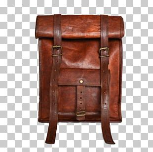 Table Wood Stain Leather Chair Bag PNG