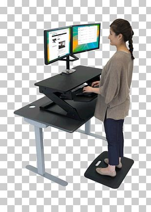 Standing Desk Standing Desk Table Personal Computer PNG