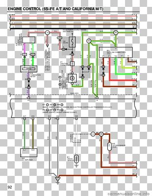 1994 Toyota Camry Diagram 1999 Toyota Camry Electrical Network PNG