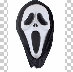 Ghostface Mask Scream Halloween Costume PNG