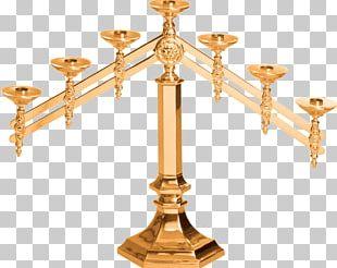 Altar Crucifix Candlestick Candelabra Church PNG