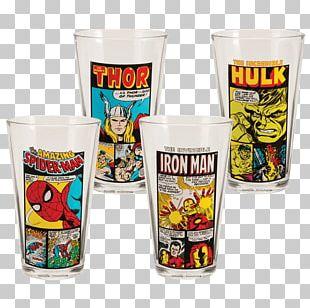 Batman Pint Glass Wonder Woman Captain America Spider-Man PNG