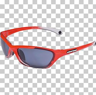 Goggles Sunglasses Red Plastic PNG