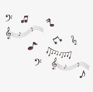 Hand-painted Simple Music Symbol Material PNG