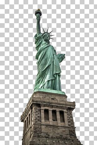 Statue Of Liberty Empire State Building One World Trade Center New York Harbor Ellis Island PNG