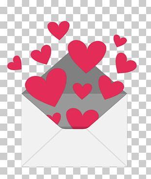 Envelope Valentines Day Heart Love Letter PNG