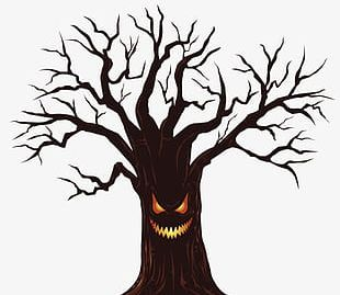 Halloween Horror Dead Tree Material PNG