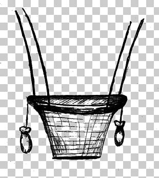 Hot Air Balloon Drawing Basket PNG
