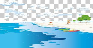 Sandy Beach Illustration PNG
