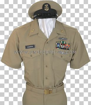 Khaki Military Uniform Chief Petty Officer United States Navy PNG