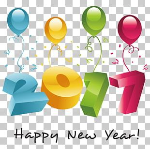 New Year Party Greeting Card PNG