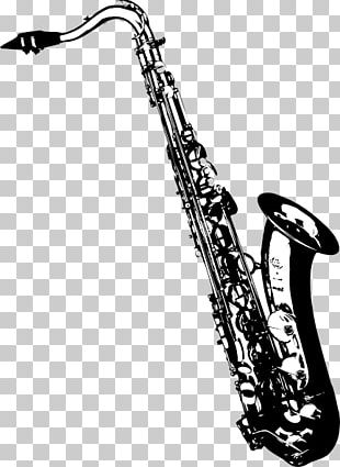 Tenor Saxophone Drawing PNG
