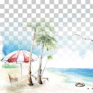 Beach Drawing Seaside Resort PNG