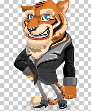 Cartoon Tiger Character PNG