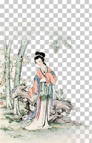 China Woman Illustration PNG