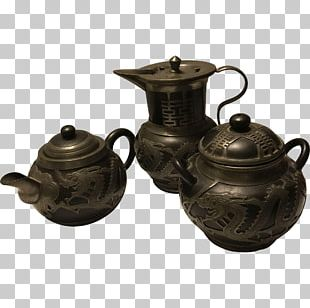 Yixing Jug Pottery Antique Teapot PNG