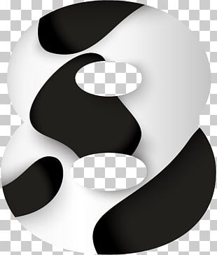 Black And White Design Circle Font PNG