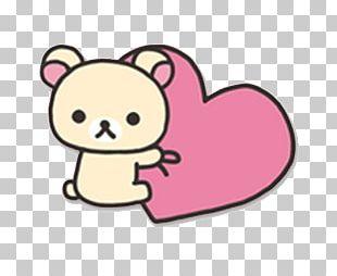 Rilakkuma Hello Kitty San-X Paper Heart PNG