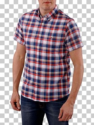 T-shirt Tartan Dress Shirt Maroon Neck PNG