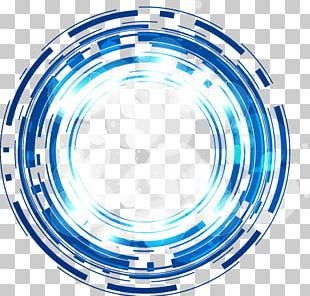 Science And Technology Abstract Blue Fantasy Glow Circle PNG