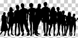 Extended Family Silhouette PNG