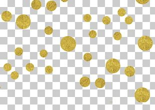 Paper Confetti Gold PNG