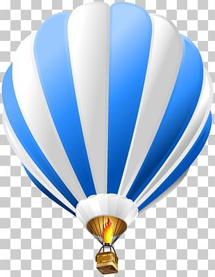 Hot Air Balloon Paper Blue PNG