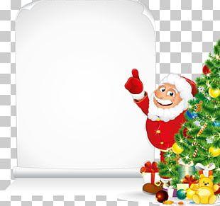 Santa Claus Christmas Card PNG