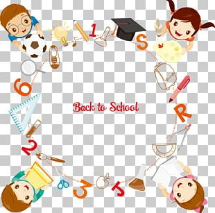 Student School Supplies Illustration PNG