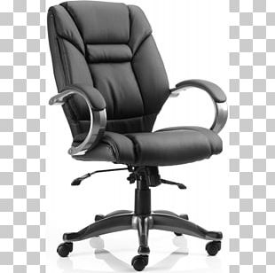 Swivel Chair Office & Desk Chairs Seat Bonded Leather PNG