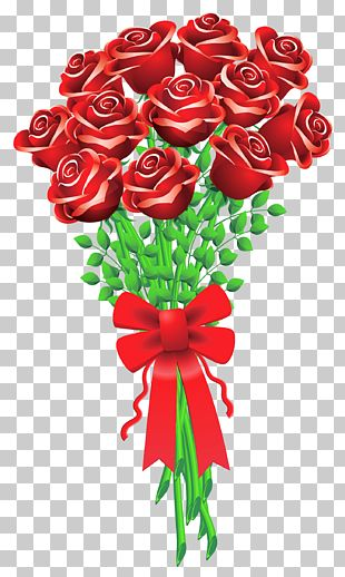 Valentine's Day Flower Bouquet Rose PNG